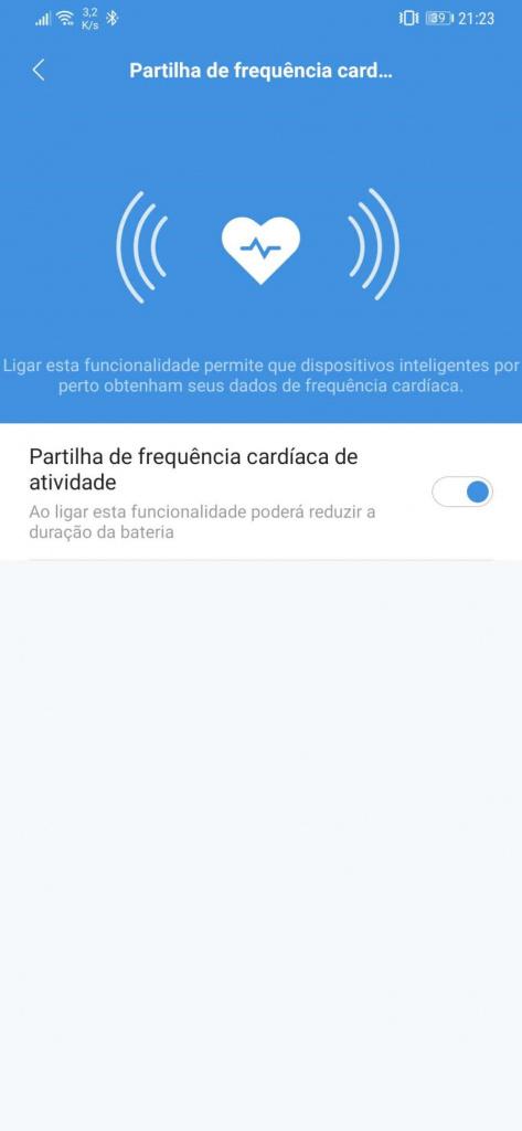 Xiaomi ritmo cardíaco