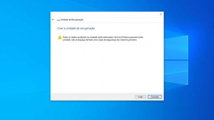 Windows 10 unidade recuperação problemas reinstalação