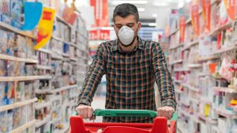 Imagem de como os supermercados podem propagar o novo coronavírus