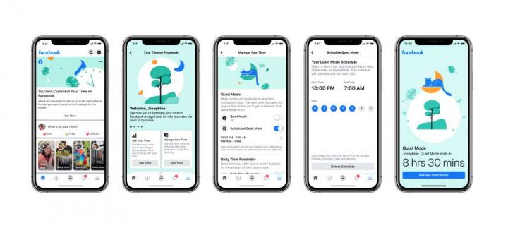 Quiet Mode Facebook rede social utilizadores tempo