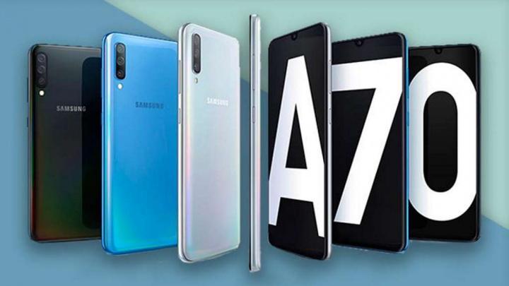 Samsung A70 Android 10 smartphones atualização