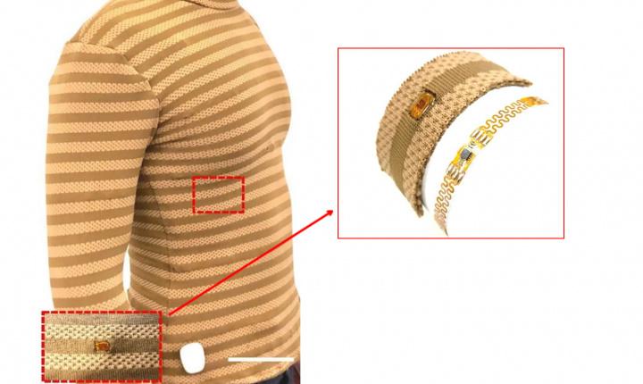 Imagem camisola com sensores que vigia os sinais vitais, temperatura e não só