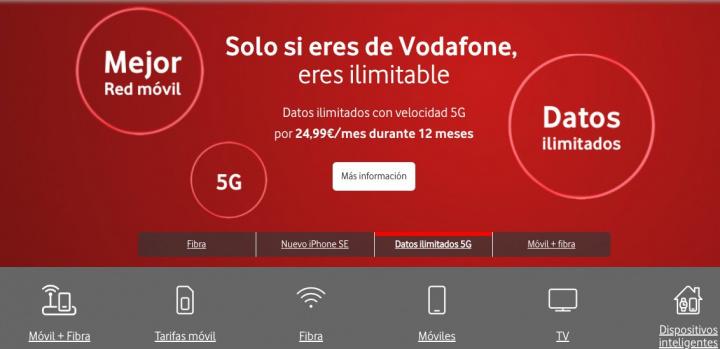Vodafone Espanha: Tarifário móvel ilimitado agora custa apenas 24,99 euros