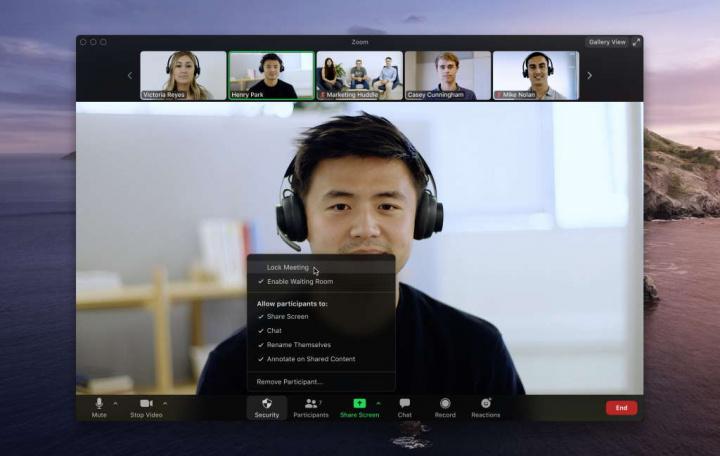 Zoom segurança sessões utilizadores reunião
