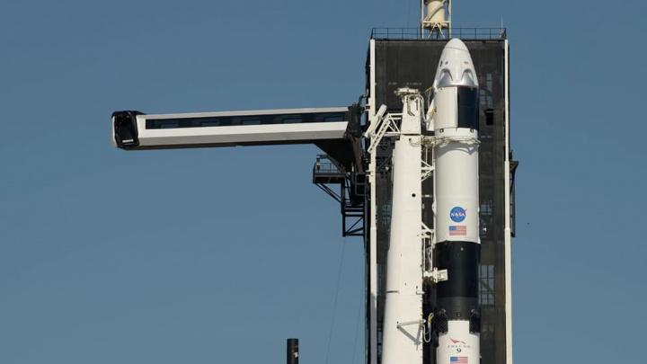 Imagem missão Demo 2 da NASA
