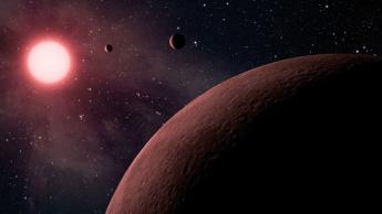 Imagem planeta Kepler-88 perto da sua estrela