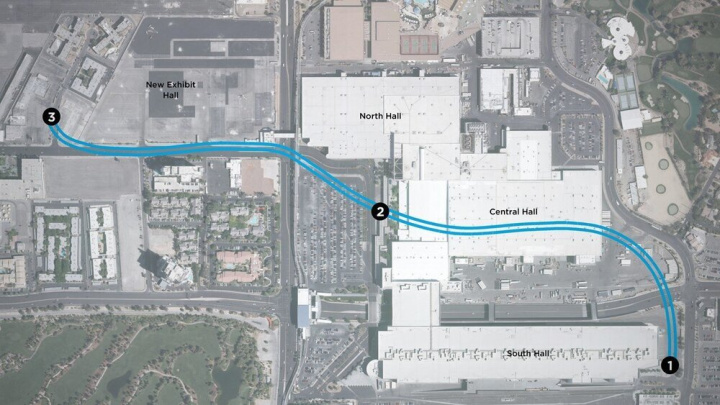 Representative Tunnel Map for the LVCC Loop