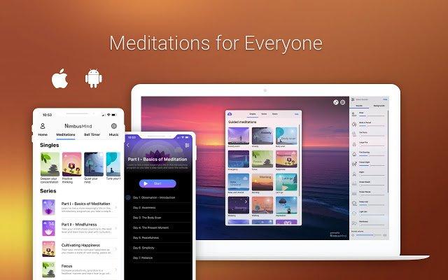 NimbusMind: Meditation, Relax, and Calm - extensões para chrome