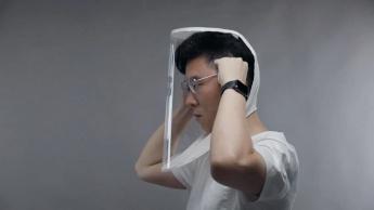 Imagem da máscara X-Hood para combater a propagação da COVID-19