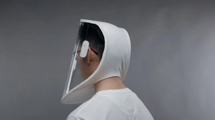 Imagem de um caux capaz de proteger as pessoas contra o vírus SARS-CoV-2
