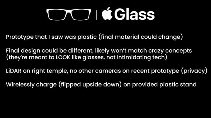 Apple Glasses: details of Apple's augmented reality glasses revealed