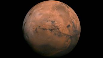 Imagem de Marte, um planeta seco, sem atmosfera