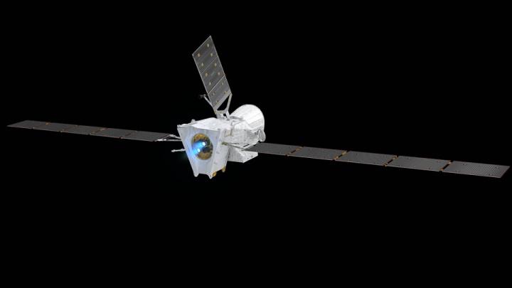 Imagem BepiColombo a caminho de Mercúrio