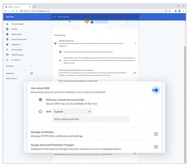 Chrome Google browser privacidade segurança