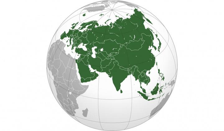 Imagem Eurásia onde competiram os neandertais e Homo sapiens