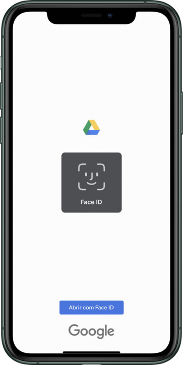 Google Drive image for iOS with Face ID or Touch ID