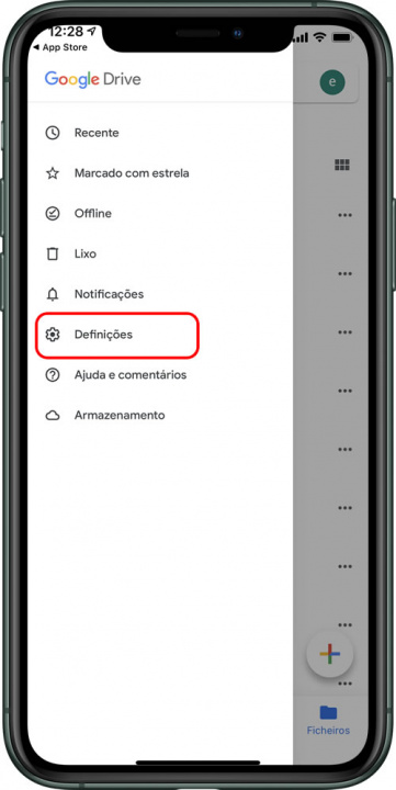 Google Drive app settings image