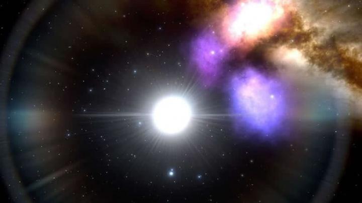 Imagem estrelas com pulsação