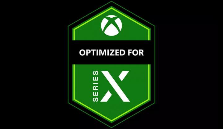 Imagem etiqueta Microsoft para jogos otimizados para a Xbox X