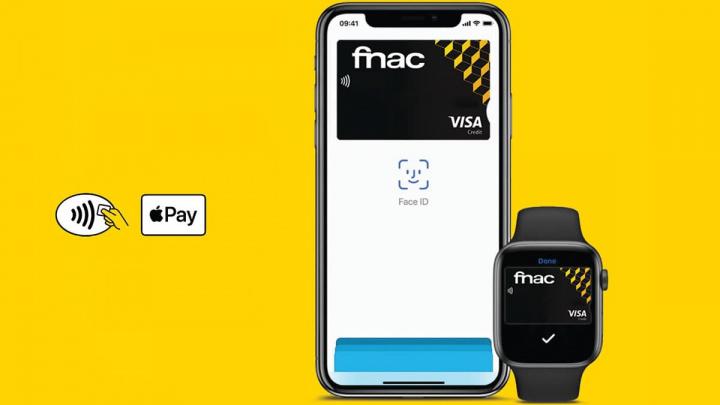 Ilustração Apple Pay na FNAC