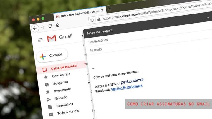 Imagem Gmail com assinaturas personalizadas