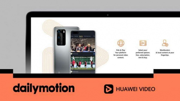 Huawei YouTube vídeos DailyMotion smartphones