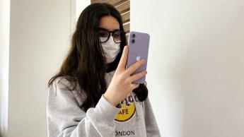 Imagem Face ID Apple iOS 13.5 com máscara
