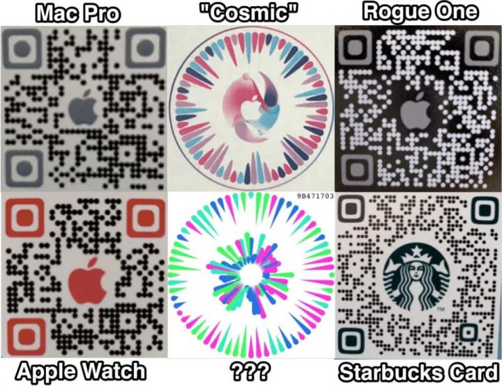 Imagem códigos QR da nova geração no iOS 14