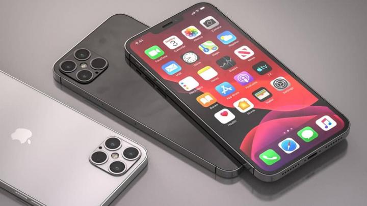 Imagem iphone 12 concept com ecrã OLED Samsung