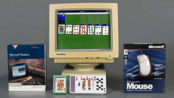 Imagem do jogo solitário no Windows 3.0