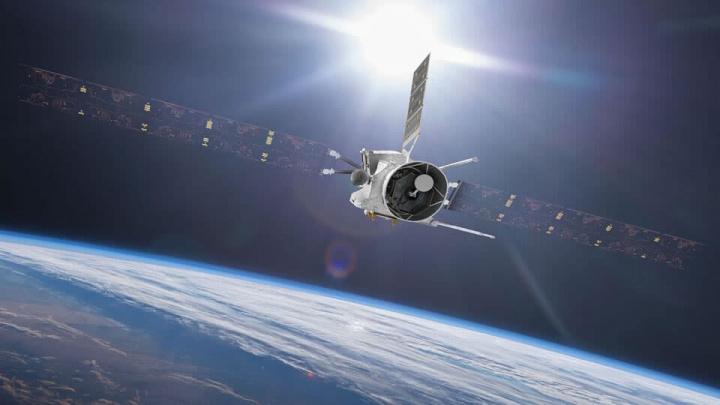 Imagem da nave BepiColombo que gravou o som da Terra na sua partida até Mercúrio