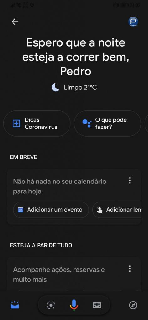 Google Pesquisa dark mode Android iOS