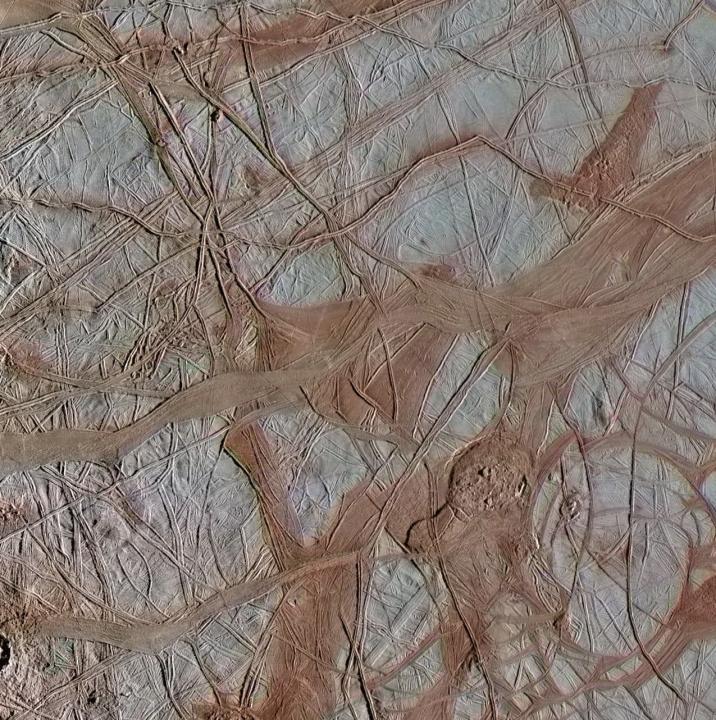 Imagem da lua de Júpiter Europa