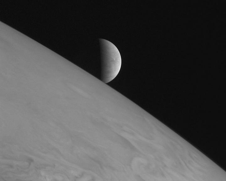 Imagem da Europa a partir de Júpiter