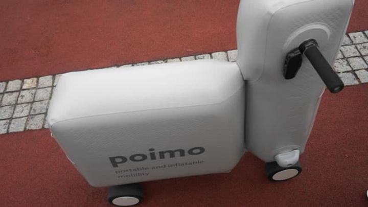 Imagem da scooter elétrica insuflável