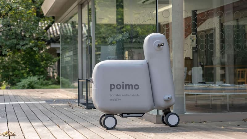 POIMO: The portable, inflatable electric scooter to carry in your backpack