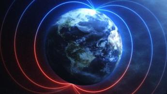Imagem do polo norte magnético da Terra