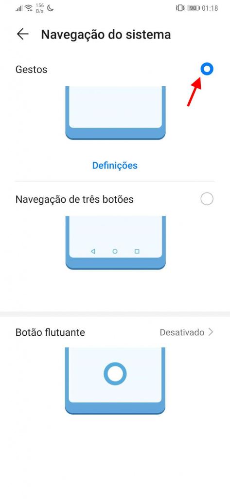 Android 10 gestos controlo ativar Google