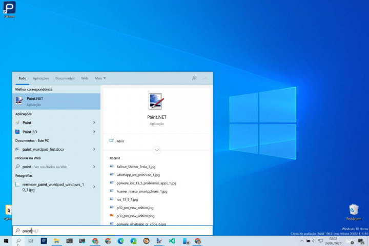 Windows 10 ficheiros apps Microsoft lista
