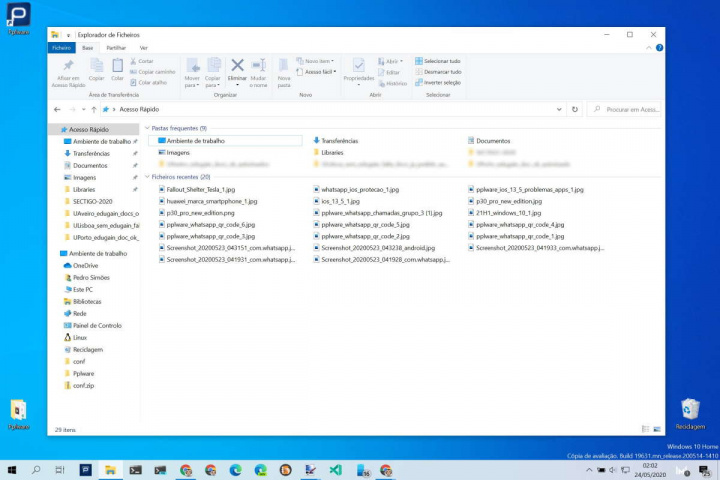 Windows 10 ficheiros apps Microsoft lista