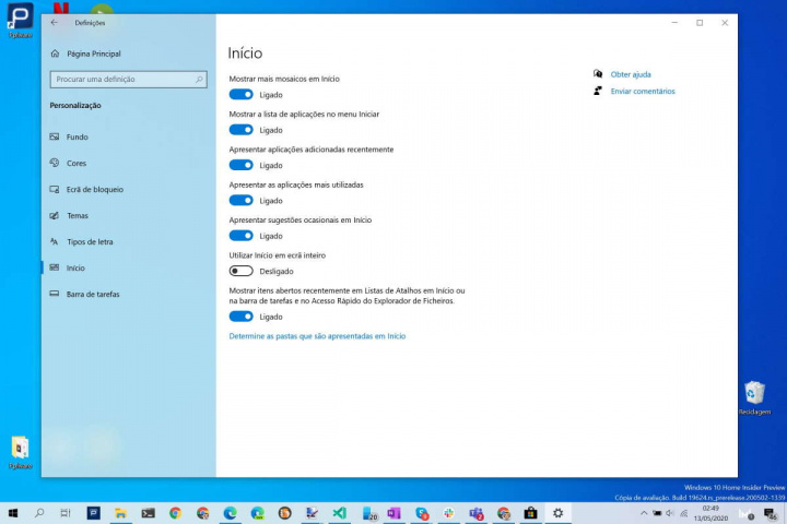 Menu Iniciar Windows 10 utilizadores Microsoft personalizar