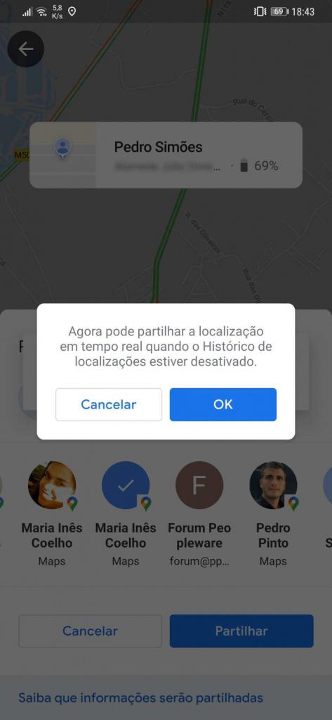 Google Maps novidade interface localização