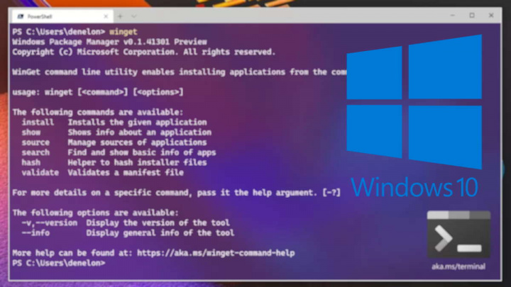 Windows 10 Package Manager instalar apps Microsoft