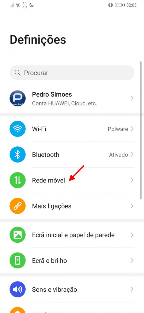 Android partilha Internet USB PC