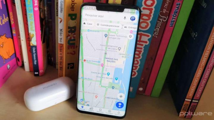Google Maps rotas smartphone browser