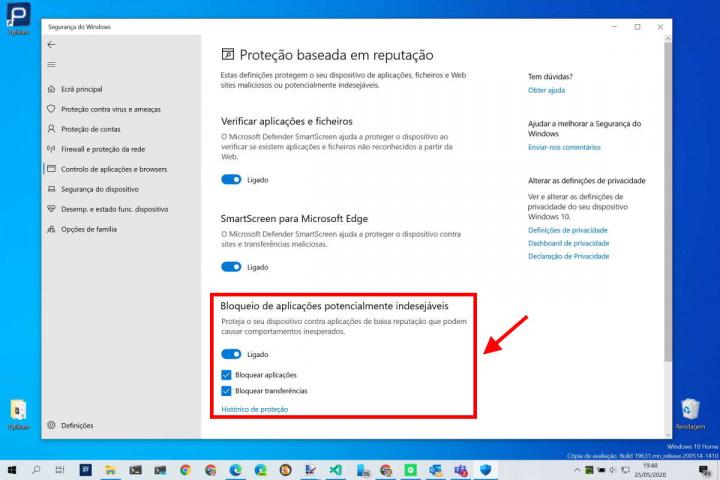 Windows 10 apps Microsoft segurança proteção