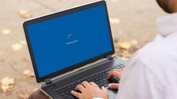 Windows 10 desligar shutdown utilizadores parâmetros