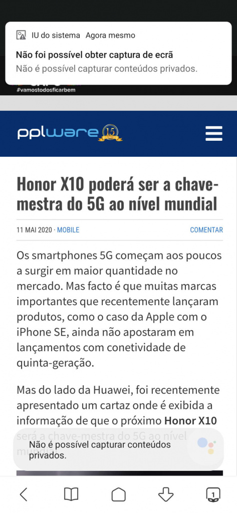 Android imagens apps Google capturas
