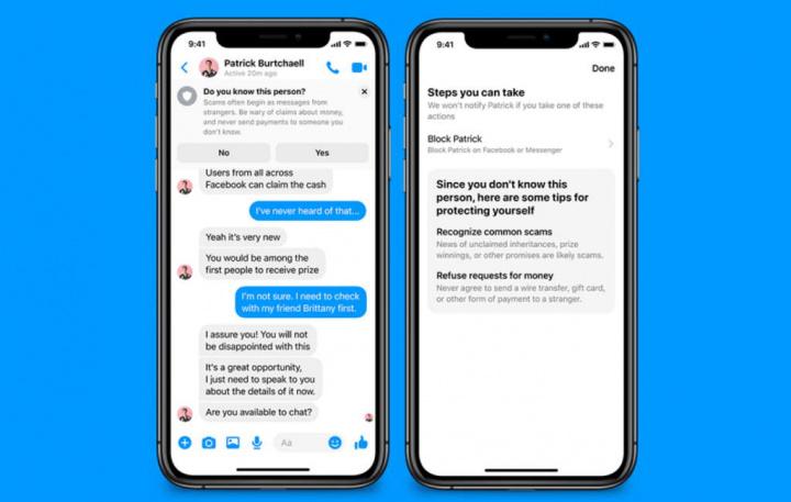 Facebook Messenger segurança utilizadores proteger