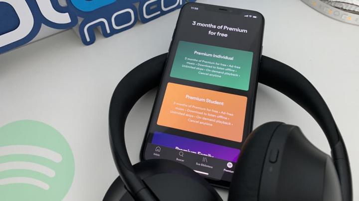 Imagem promoção Spotify Premium 3 meses gratuito